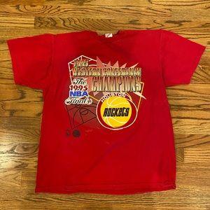 RARE 1995 Rockets NBA tee